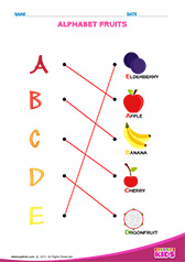 Match Alphabet Fruits